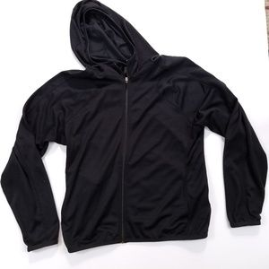 Nike Black Long Sleeve Mesh Hoodie Medium